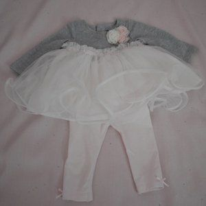 Edgehill Collection Pink and Gray Dress  3 M